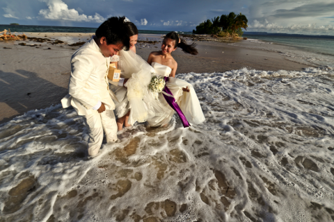 Documenting a wedding in a remote island south of Philippines.